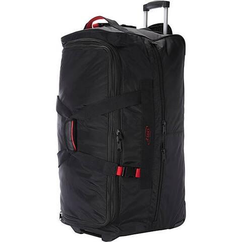 "A.Saks Black Ballistic Nylon 31-inch Expandable Rolling Duffel Bag - 31"" x 14"" x 14"""