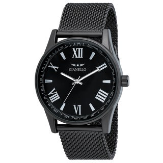 Gianello Mesh Gunmetal Stainless Steel Watch