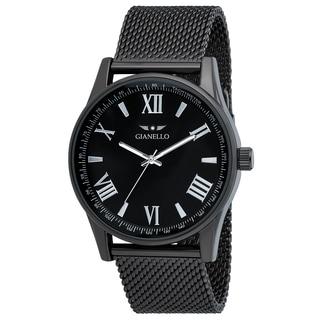 Gianello Mesh Gunmetal Stainless Steel Watch