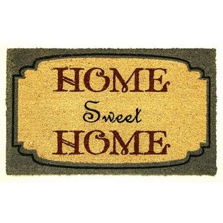 Yellow, Forest Green, and Crimson 'Home Sweet Home' Doormat (18 x 30)