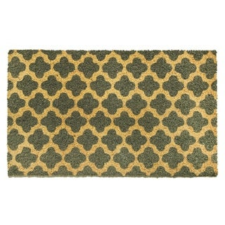 Cascade Multicolored Natural Coir Machine-woven Doormat