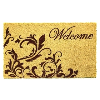 Dynamic Rugs Ivory Coir Machine Woven Cascade Doormat