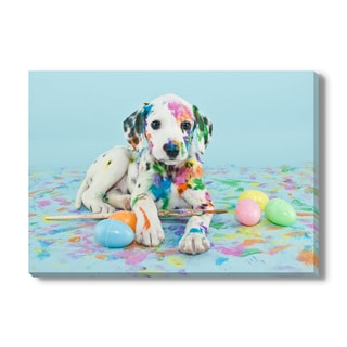 Easter Dalmatain Puppy, Canvas Gallery Wrap