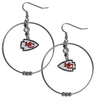 NFL Kansas City Chiefs 2-inch Hoop Earrings