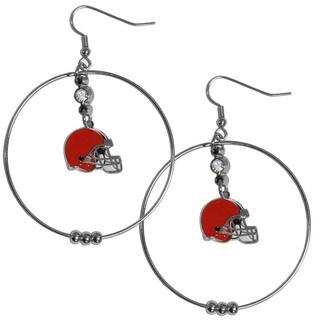 NFL Cleveland Browns 2-inch Hoop Earrings