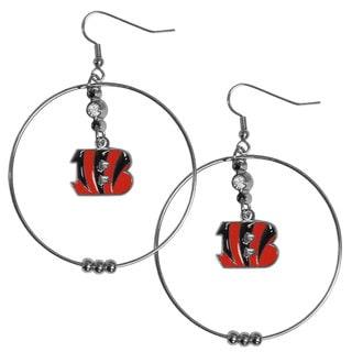 NFL Cincinnati Bengals 2-inch Hoop Earrings