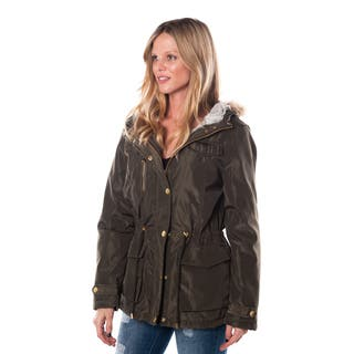 Special One Women's Acrylic and Polyester Zip-up Parka Jacket with Fur-lined Hood|https://ak1.ostkcdn.com/images/products/13473902/P20160620.jpg?impolicy=medium