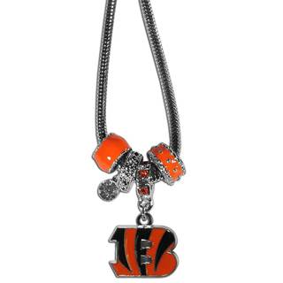 NFL Cincinnati Bengals Chrome Enamel Euro Bead Necklace