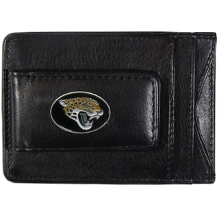 NFL Jacksonville Jaguars Leather Cash and Card Holder