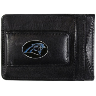 NFL Carolina Panthers Leather Cash and Card Holder