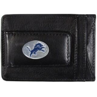NFL Detroit Lions Black Leather Cash and Card Holder (Option: Detroit Lions)