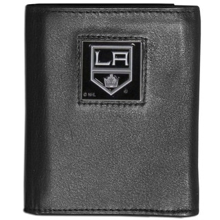 NHL Los Angeles Kings Black Leather Tri-fold Wallet