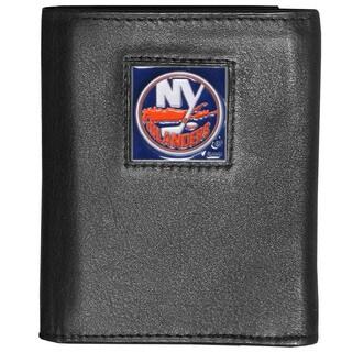 NHL New York Islanders Black Leather Tri-fold Wallet (Option: New York Islanders)