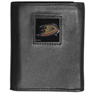 NHL Anaheim Ducks Black Leather Tri-fold Wallet