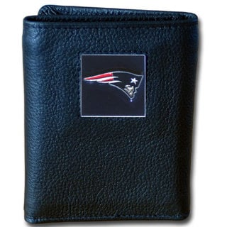 NFL New England Patriots Leather Tri-fold Wallet