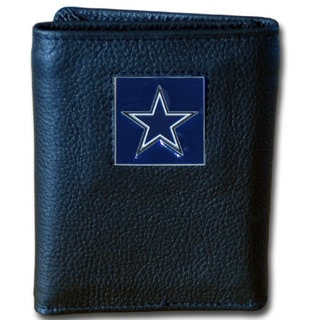 NFL Dallas Cowboys Black Leather Tri-fold Wallet