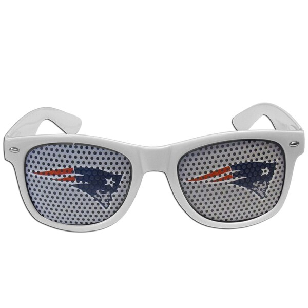 NFL New England Patriots White Plastic Game Day Shades