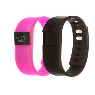 Zunammy Pink Health and Fitness Activity Tracker Watch w/ Extra Band