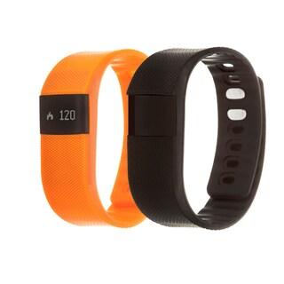 Zunammy Orange Health and Fitness Activity Tracker Watch w/ Extra Band