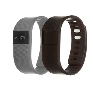 Zunammy Grey Health and Fitness Activity Tracker Watch w/ Extra Band