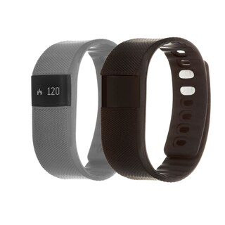 Zunammy Grey Health and Fitness Activity Tracker Watch w/ Extra Band