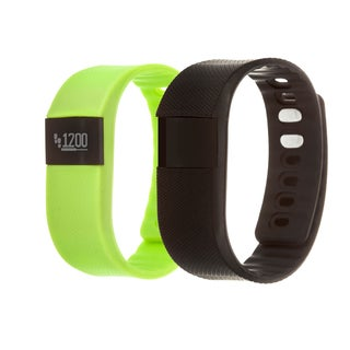 Zunammy Green Health and Fitness Activity Tracker Watch w/ Extra Band
