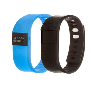 Zunammy Blue Health and Fitness Activity Tracker Watch w/ Extra Band