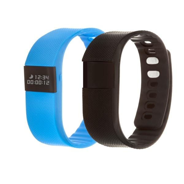 Zunammy Blue Health and Fitness Activity Tracker Watch w/ Extra Band