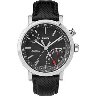 Timex Unisex TW2P81700 Metropolitan+ Activity Tracker Watch with Black Leather Strap (Option: Black)
