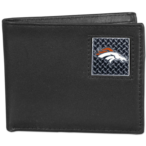 NFL Denver Broncos Gridiron Leather Bi-fold Wallet Gift Box Set