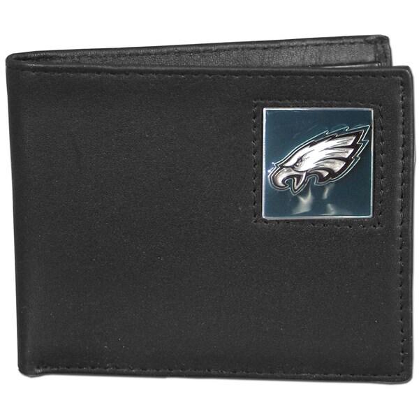 NFL Philadelphia Eagles Leather Bi-fold Wallet in Gift Box