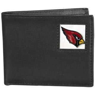 NFL Arizona Cardinals Black Leather Bi-fold Wallet and Gift Box Set