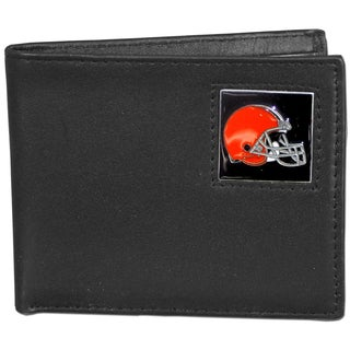 NFL Cleveland Browns Leather Bi-fold Wallet in Gift Box