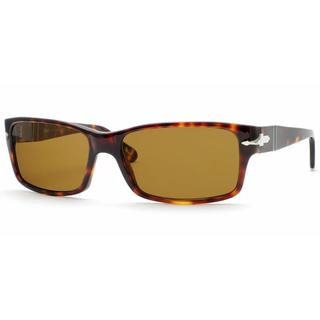 Persol Mens PO2803S 24/57 Havana Plastic Rectangle Sunglasses