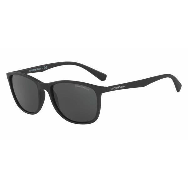 6090e5d5105a Shop Emporio Armani Mens EA4074 504287 Black Plastic Rectangle Sunglasses -  Free Shipping Today - Overstock.com - 13474263