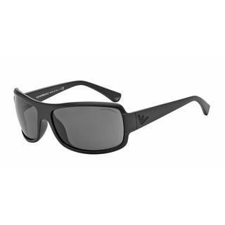 Emporio Armani Mens EA4012 504287 Black Plastic Rectangle Sunglasses