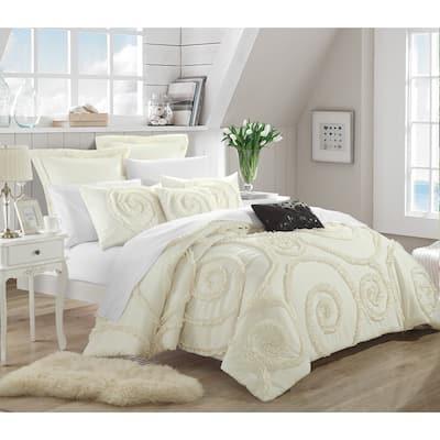 Chic Home 11-Piece Rosamond Cream Comforter Set
