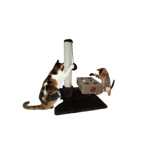 "FurHaven Tiger Tough Small Busy Box and Cat Scratching Post - 16"" x 16"" x 22.5"""