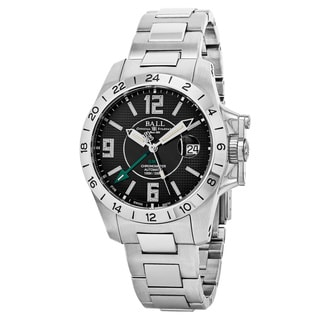 Ball Men's GM2098C-SCAJ-BK 'Engineer Hydrocarbon' Black Dial Stainless Steel GMT Swiss Automatic Watch