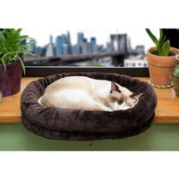 FurHaven Cat Tiger Tough Brown Cat Bed Window Perch