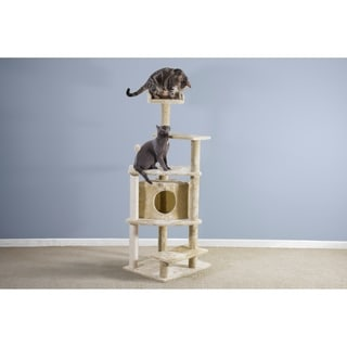 FurHaven Tiger Tough Platform House Playground Cat Tree