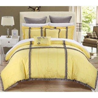 Chic Home Legenda 11-Piece Yellow Bed in a Bag Comforter Set