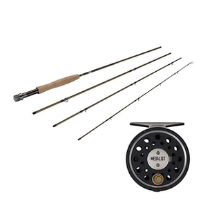 Fenwick Medalist Fly Kit 5/6 Reel Size, 1.1:1 Gear Ratio, 9' Length, 8-weight Line Rating 4-Piece Rod
