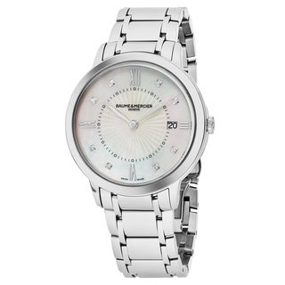 Baume Mercier Women's MOA10225 'Classima' Mother of Pearl Dial Stainless Steel Swiss Quartz Watch