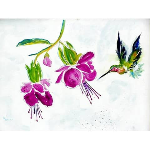 Betsy Drake Hummingbird Purple Polyester Placemats (Pack of 4)