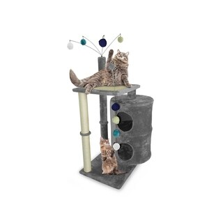 FurHaven Tiger Tough Cat Table Playground Cat Tree