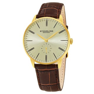 Stuhrling Original Men's Symphony Brown Leather Strap Watch
