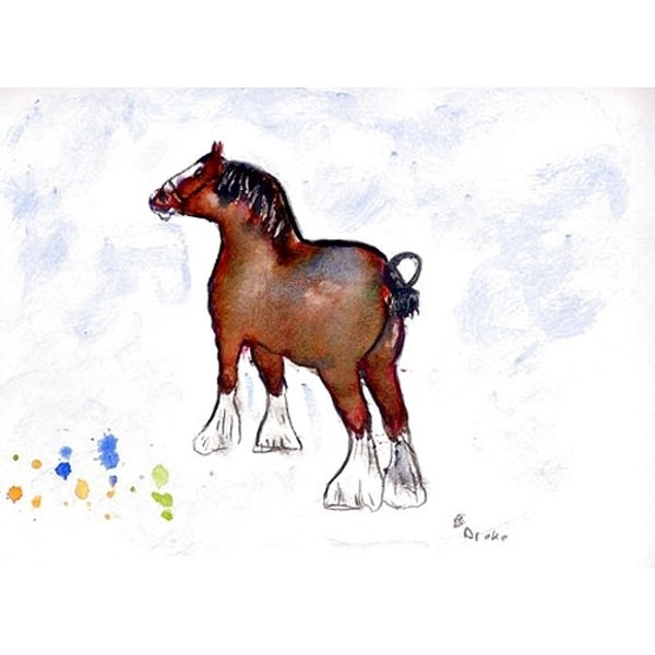 Betsy Drake 'Clydesdale' Polyester Place Mats (Pack of 4)