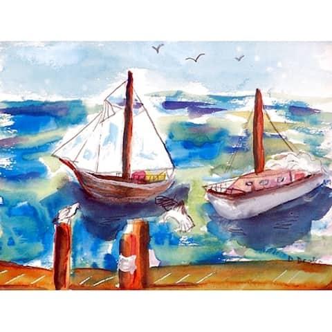 Betsy Drake 'Two Sailboats' Place Mats (Pack of 4)