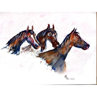 Betsy Drake Three Horses Place Mat (Pack of 4)